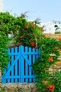 Image : Blue garden gate  chic