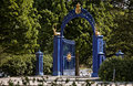 Blue Gate on the island of Djurgarden. Stockholm Royalty Free Stock Photo