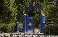 Blue Gate on the island of Djurgarden. Stockholm Royalty Free Stock Photo
