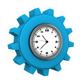 Blue gear watch a in the on the white background Royalty Free Stock Photo