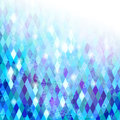 Blue geometric background grungy mosaic with texture Royalty Free Stock Photography