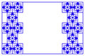 Blue geometric border Royalty Free Stock Photo