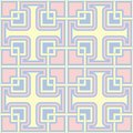 Blue geometric seamless pattern. Background with beige and pink elements