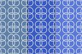 Blue geometric set of seamless patterns