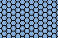 Blue Geometric Shapes Black Abstract Pattern