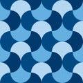 Blue geometric wallart seamless motif Royalty Free Stock Photo