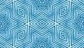 Blue Geometric Watercolor. Cute Seamless Pattern. Hand Drawn Stripes. Brush Texture. Astonishing Che Royalty Free Stock Photo