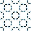 Blue Geometric Watercolor. Seamless Pattern.Surface Ornament.