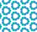 stock image of  Blue Geometric Watercolor. Seamless Pattern.Surface Ornament.