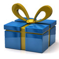 Blue gift Royalty Free Stock Photos