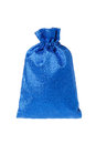 Blue gift bag on a white background Royalty Free Stock Photo