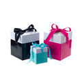 Blue gift boxes Royalty Free Stock Photo