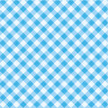 Blue gingham fabric, seamless pattern included Royalty Free Stock Photo