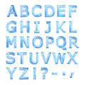 Blue glass alphabet Stock Photography