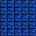 Blue glass blocks - seamless pattern Royalty Free Stock Photo