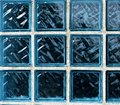 stock image of  Blue glass bricks texture. Blue bricks background. White lines.