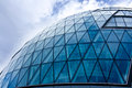 Blue glass domed building Royalty Free Stock Photo