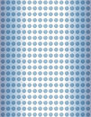 Blue glass dots Stock Photography