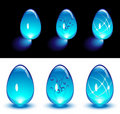 Blue Glass Eggs Stock Photography