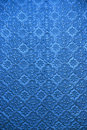 Blue glass embossed stained window Royalty Free Stock Photo