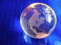 Blue Glass Globe Royalty Free Stock Photo