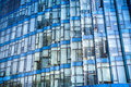 Blue glass modern building closeup Royalty Free Stock Photo