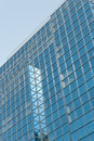 Blue glass on modern office block Royalty Free Stock Image
