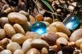 Blue Glass Pebbles Royalty Free Stock Photo