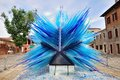 Blue glass sculpture in murano veneto italy june on the venetian island italy Stock Image