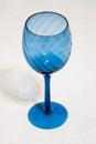 Blue glass stemware Royalty Free Stock Photo