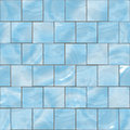Blue glass tiles seamless texture Royalty Free Stock Photography