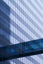 Blue glass wall of skyscraper Royalty Free Stock Images