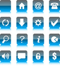Blue Glass Web Icons Royalty Free Stock Image