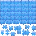 Blue Glassy Puzzle Royalty Free Stock Image