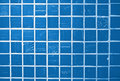 Blue glazed tile Stock Images