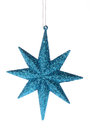 Blue glitter star Royalty Free Stock Photography