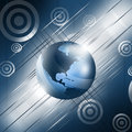 Blue globe background white lines on a surface Royalty Free Stock Photo
