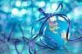 Blue globe. Royalty Free Stock Photo
