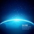 Blue globe earth background. Vector illustration Royalty Free Stock Photo