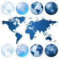 Blue globe kit Royalty Free Stock Photos