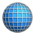 Blue globe symbol