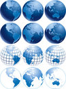 Blue globes Stock Photography