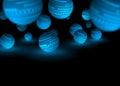 Blue globes Royalty Free Stock Photo