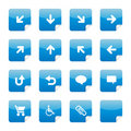 Blue glossy stickers part 3 Royalty Free Stock Image
