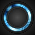 Blue glowing circle vector logo Royalty Free Stock Photo