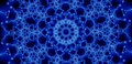 Blue glowing fractal Stock Photography