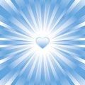 Blue glowing heart background Stock Photo