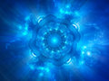 Blue glowing space object genesis Royalty Free Stock Photo