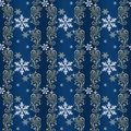 Blue and gold Christmas Wrapping paper Royalty Free Stock Photo