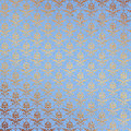 Blue and Gold Damask Background Royalty Free Stock Photo